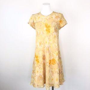 Vintage 90s Tracy M | Yellow Daisy Mini Dress
